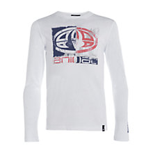 Buy Animal Boys' Brackens Long Sleeve T-Shirt, White Online at johnlewis.com