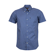 Buy Barbour Lloyd Short Sleeve Shirt, Blue Online at johnlewis.com