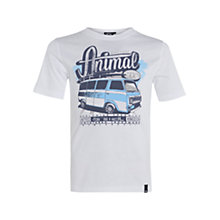 Buy Animal Children's Harper Campervan T-Shirt, White Online at johnlewis.com