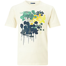 Buy Kin by John Lewis Finger Paint Printed T-Shirt, Ecru Online at johnlewis.com