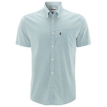 Buy Barbour Leon Short Sleeve Shirt, Blue/White Online at johnlewis.com