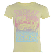 Buy Animal Girls' All Love Graphic Print T-Shirt, Yellow Online at johnlewis.com