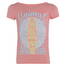 Buy Animal Girls' Ashlia Graphic Print T-Shirt, Peach Online at johnlewis.com