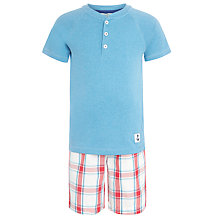 Buy John Lewis Boy Short Sleeve Check Print Pyjamas, Multi Online at johnlewis.com