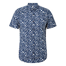 Buy Kin by John Lewis Watercolour Dot Short Sleeve Shirt, Navy Online at johnlewis.com