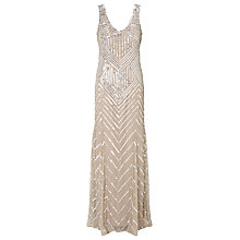 Buy John Lewis Sidney Sequined Dress, Silver Online at johnlewis.com