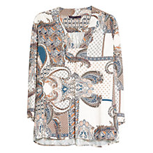 Buy Violeta by Mango Mosaic Print Blouse, Beige/Khaki Online at johnlewis.com