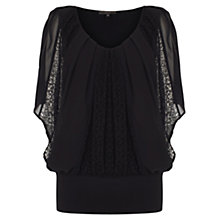 Buy Coast Kai Lace Calla Top, Black Online at johnlewis.com