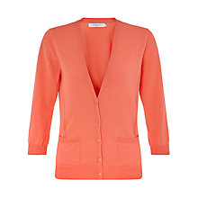 Buy John Lewis Rib Detail Cotton V-Neck Cardigan Online at johnlewis.com