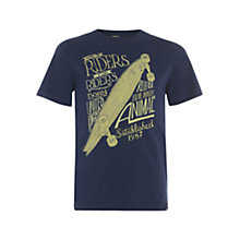 Buy Animal Boys' Haylee Graphic Print T-Shirt, Indigo Online at johnlewis.com