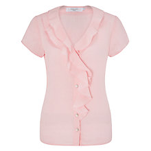 Buy John Lewis Frill Front Linen Blouse Online at johnlewis.com