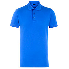 Buy Armani Jeans Plain Polo Shirt, Blue Online at johnlewis.com