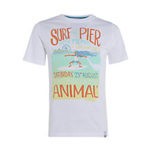Buy Animal Boys' Hottan Surfer Print T-Shirt, White Online at johnlewis.com
