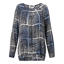 Buy Sandwich Mixed Spot Top, Dark Sky Online at johnlewis.com
