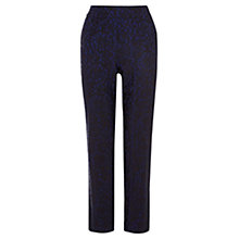 Buy Coast Magna Patterned Trousers, Blue Online at johnlewis.com