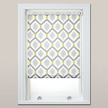 Buy John Lewis Indah Daylight Roller Blind, Grey / Saffron Online at johnlewis.com