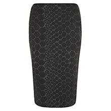 Buy Hobbs Graphic Snake Skirt, Black/Grey Online at johnlewis.com