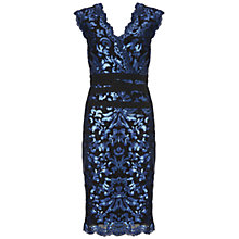 Buy Gina Bacconi Sequin Scroll Dress, Navy Online at johnlewis.com