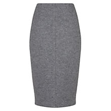 Buy Hobbs Melange Laila Skirt, Grey Melange Online at johnlewis.com