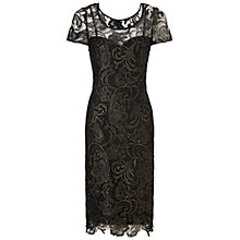 Buy Gina Bacconi Guipure Lace Dress, Black/Gold Online at johnlewis.com