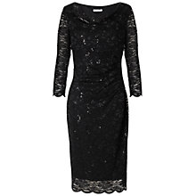 Buy Gina Bacconi Sequin Stretch Lace Dress, Black Online at johnlewis.com