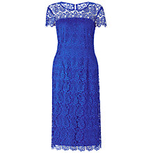 Buy Gina Bacconi Guipure Dress, Blue Sapphire Online at johnlewis.com
