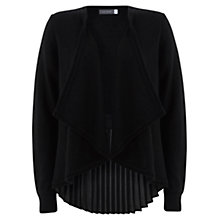 Buy Mint Velvet Pleat Back Knit Cardigan, Black Online at johnlewis.com