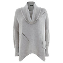 Buy Hygge by Mint Velvet Pointelle Knitted Jumper, Grey Online at johnlewis.com