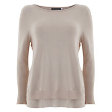Buy Mint Velvet Powder Lace Side Knitted Jumper, Pale Pink Online at johnlewis.com