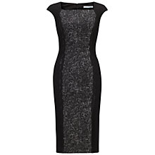 Buy Gina Bacconi Tweed Stretch Knitted Dress, Black/Ivory Online at johnlewis.com