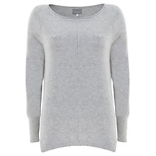 Buy Mint Velvet Sequin Patch Knitted Jumper. Grey Online at johnlewis.com