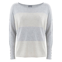 Buy Mint Velvet Stripe Boxy Knitted Jumper, Ecru & Latte Online at johnlewis.com