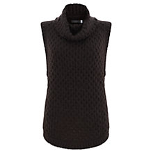 Buy Mint Velvet Sleeveless Wavy Funnel Jumper, Merlot Online at johnlewis.com