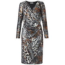 Buy Gina Bacconi Animal Skin Dress, Bronze Online at johnlewis.com