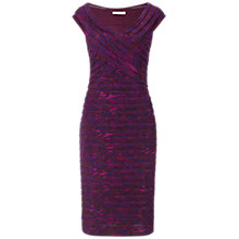 Buy Gina Bacconi Autumn Skin Print Dress, Purple Online at johnlewis.com