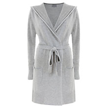 Buy Mint Velvet Hood Wrap Cardigan, Silver Online at johnlewis.com