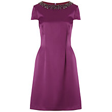 Buy Gina Bacconi Duchess Sateen Dress, Bordeaux Online at johnlewis.com