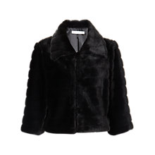 Buy Gina Bacconi Faux Fur Jacket, Black Online at johnlewis.com