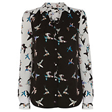 Buy Oasis Peter Ting Bird Print Shirt, Multi Online at johnlewis.com