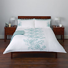 Buy John Lewis Tilly Floral Embroidered Duvet Cover and Pillowcase Set Online at johnlewis.com