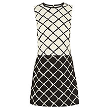 Buy Oasis Multi-Diamond Print Double Layer Contrast Dress, Multi Black Online at johnlewis.com