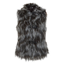 Buy Mint Velvet Faux Fur Gilet, Chocolate Online at johnlewis.com