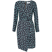 Buy Closet Heart Print Drape Dress, Green Online at johnlewis.com