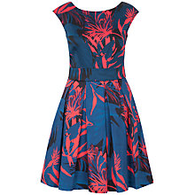 Buy Closet Palm Print Tie Back Dress, Multi Online at johnlewis.com