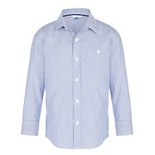 Buy John Lewis Boy Micro Striped Shirt, Navy/Grey Online at johnlewis.com