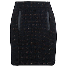 Buy French Connection Tweed Pencil Skirt, Black Multi Online at johnlewis.com