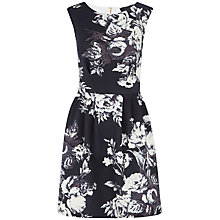 Buy Closet Bold Flower Print Scuba Dress, Black and White Online at johnlewis.com
