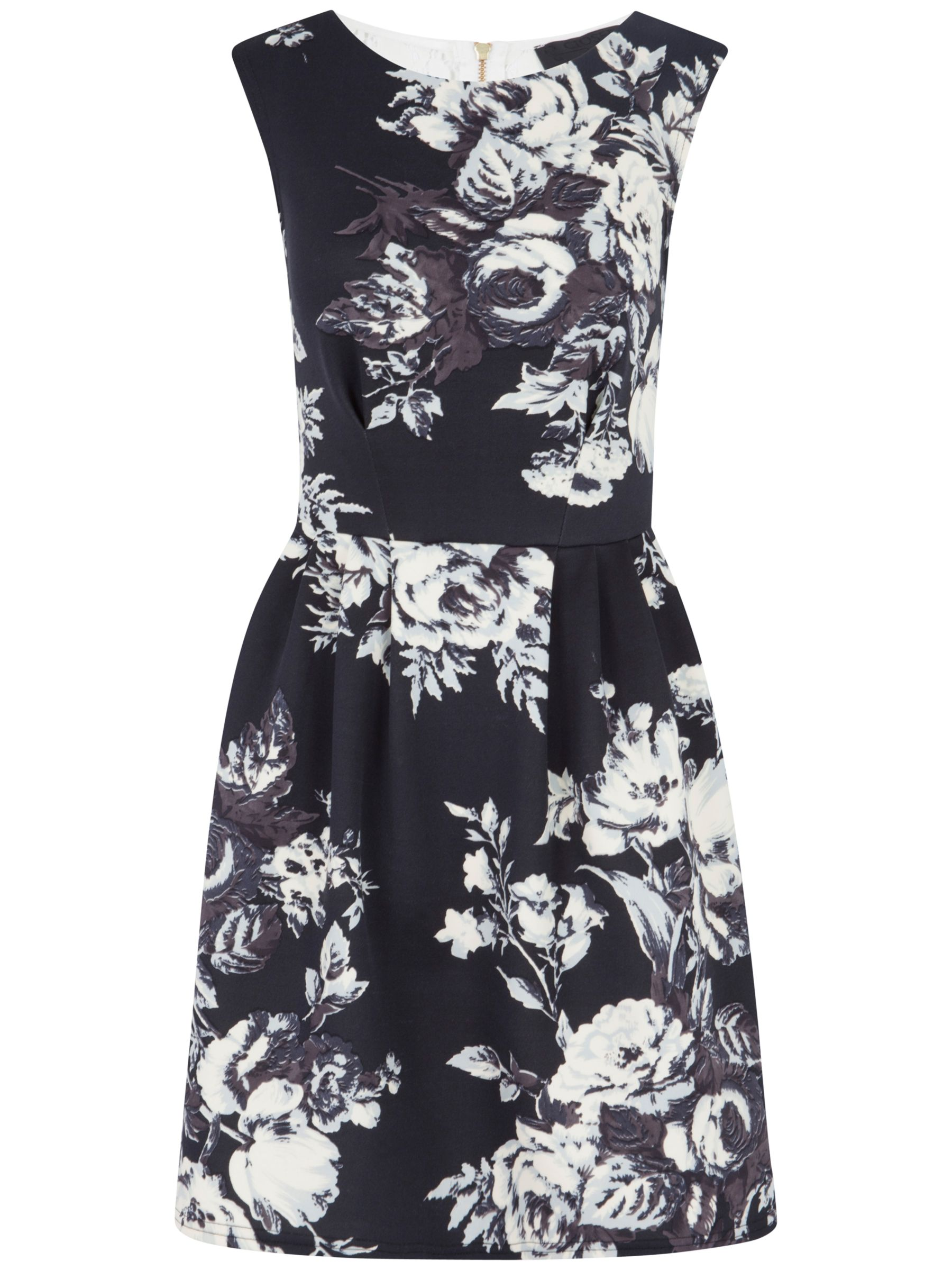 closet bold flower print scuba dress black and white, closet, bold, flower, print, scuba, dress, black, white, 10|12|14, clearance, womenswear offers, womens dresses offers, women, inactive womenswear, new reductions, womens dresses, special offers, 1697760