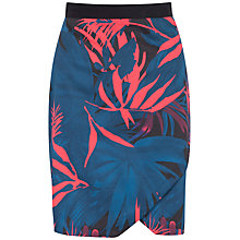 Buy Closet Palm Print Wrap Pencil Skirt, Multi Online at johnlewis.com