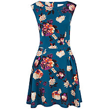 Buy Almari Floral Scuba Panel Dress, Teal Online at johnlewis.com
